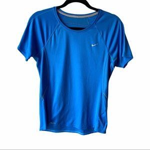Nike Dri-Fit Crew Neck Tee Blue M